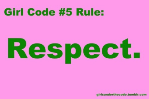 Girl code for dating